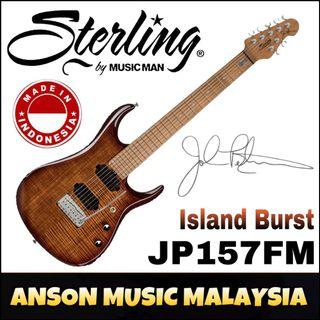 Sterling by Music Man JP157FM John Petrucci Signature Electric Guitar, Island Burst(ILB)