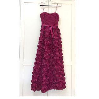LONG RED ROSE DRESS AIDAN MATTOX/ EVENING DRESS/ BRIDAL/ WEDDING
