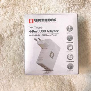 LIFETRONS USB Travel Adaptor 4-port
