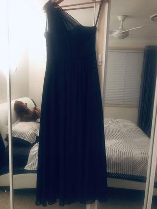 Alfred Angelo formal dress navy blue
