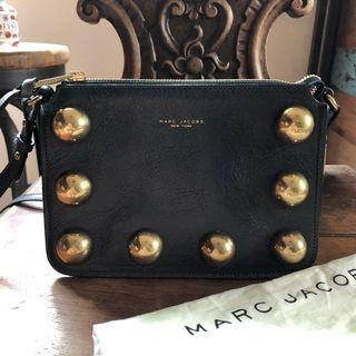 Marc Jacobs  墨綠金球金屬飾帶側背包/斜背包 正品 晚宴包 復古摩登 紐約天才設計師