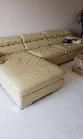 Full Leather L Shape Sofa