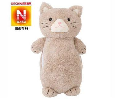 宜得利 吸濕發熱 小貓抱枕