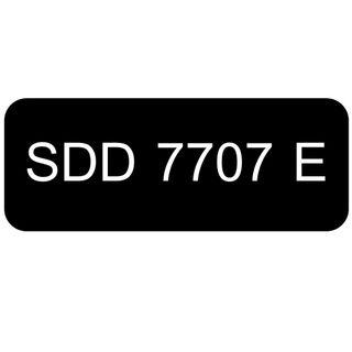 Car Number Plate for Sale: SDD 7707 E