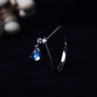 新款,太美了。925純銀月亮石,月光石戒指,高質玻璃月,工艺精湛,眼睛都離不開手指上了。free size , $528.