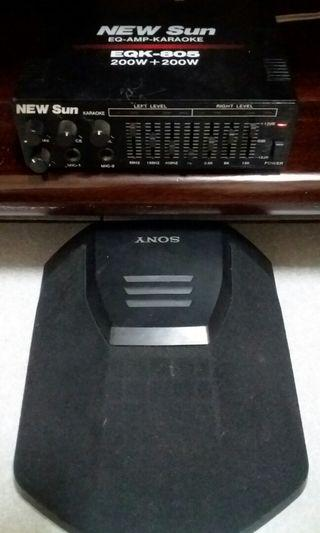 400watts EQ+sony single speaker