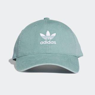 現貨 iShoes正品 Adidas Trefoil 帽子 男女款 湖水綠 老帽 棒球帽 三葉草 基本款 DV0206