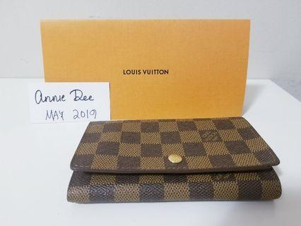 Authentic Louis Vuitton Tresor Wallet in Damier Ebene