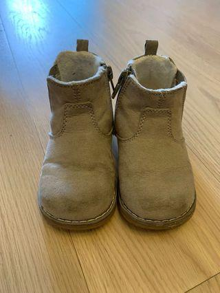 H&M 女孩毛底boot