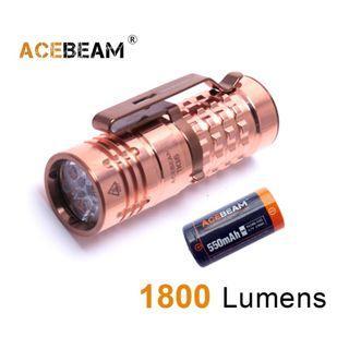 {MPower} AceBeam TK16 CU Copper 美國名廠 CREE XPG3 1800 流明 EDC LED Flashlight 銅版 電筒 - 原裝行貨