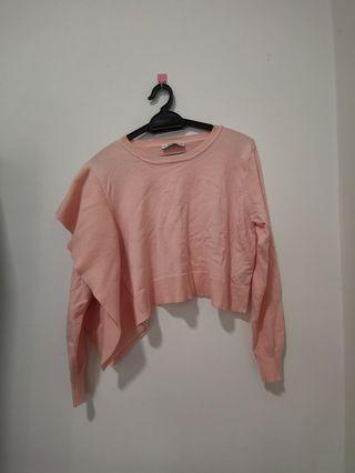 Zara Pink knit top