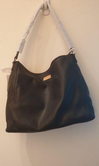 Kate Spade Pebbled Black Leather Shoulder Bag