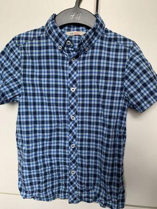 H&M 7-8y shirt 男童裝