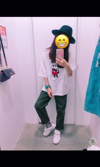 Gu軍綠色長褲