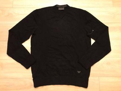 Emporio Armani black V neck long sleeve