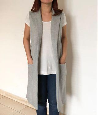 River island grey outer vest