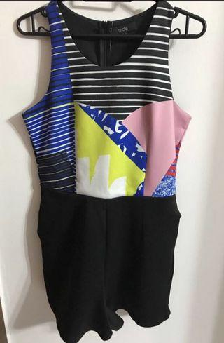 MDS Stripes Colourful Romper