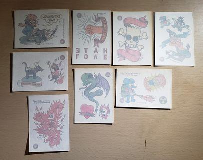 罕有 阿森一族 Simpons TATTOO 紋身貼紙8張