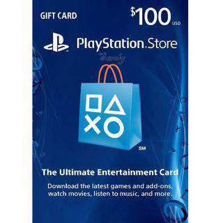PSN US gift card $100