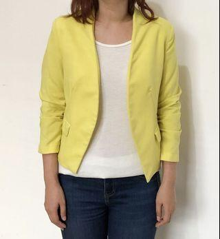 H&M yellow outer jacket