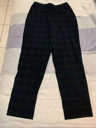 🚚 格紋西裝長褲