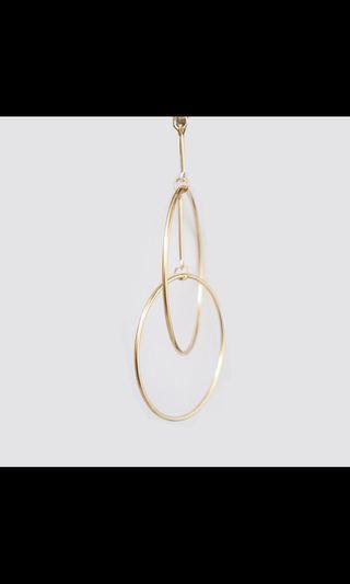 🚚 超激美金色圈圈耳環