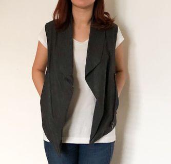 H&M faux leather outer vest sale