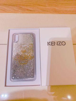 🚚 Kenzo iPhone XS max 專用 銀色星空流沙手機殼 (全新正品)