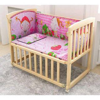 Wooden 3 in 1 rocking baby cot study table (281)