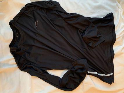 迪卡儂黑色排汗衫 M
