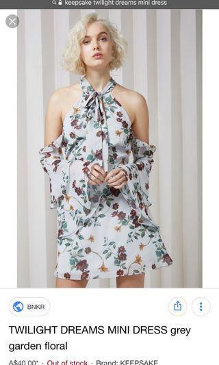 Keepsake twilight dreams mini dress