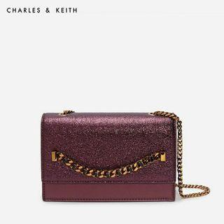 Charles & keith chain detail front flap bag