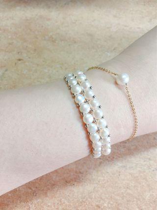【925純銀珍珠手排】🐚💕  高貴·可愛