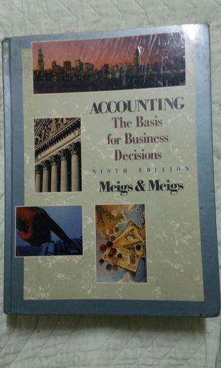 Accounting book ninth edition by Meigs & Meigs - McGrawHill