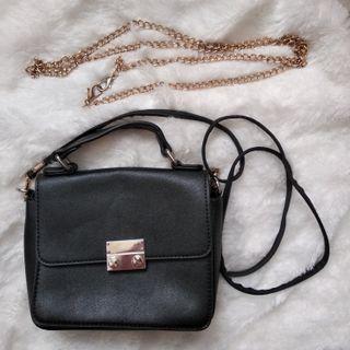 Tas Wanita / Women's Bag mirip Furla dapat 2 tali - Black