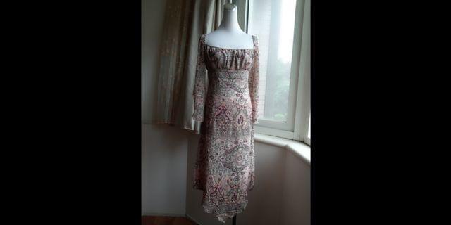 Mango 復古歐風高腰長洋裝