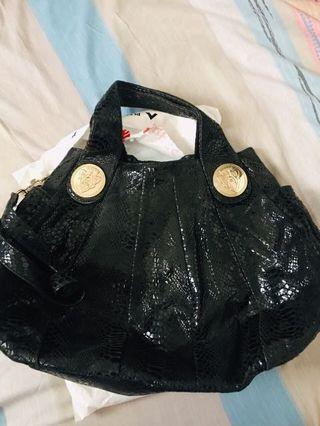 Gucci hysteria black python bag