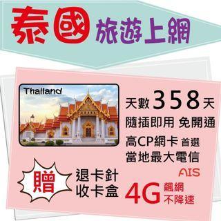 【 泰國上網卡】東南亞 不降速 8天 泰國上網 泰國網卡 泰國上網卡 4G AIS 高速上網 數據卡 旅遊卡
