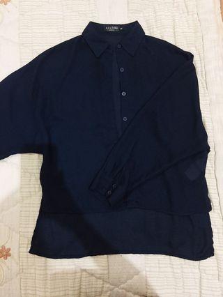 Zalora batwing navy shirt