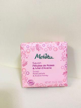 Melvita soap rose petals & acacia honey 天然有機護膚皂
