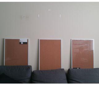 3 x Corkboards with frame (75cm x 50cm)