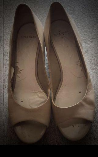 Cole Haaan-leather heels(price reduced!)