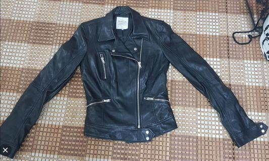 [ Incl Pos ]ZARA FAUX LEATHER BIKER JACKET
