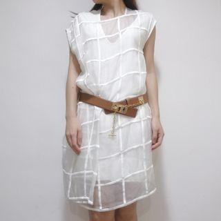 【2hand】Sportmax asymmetric dress 白色連身裙