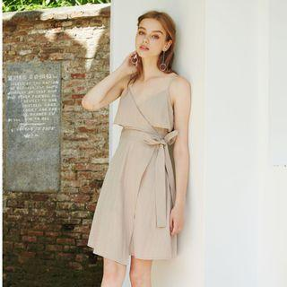 [BNWT] Intoxiquette Henna Flap Crossover Dress in Clay (Size M)