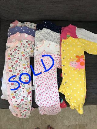 10 pcs footed Long sleeve Sleepsuits #EndgameYourExcess