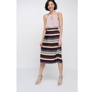 Love Bonito Strasia Striped Midi Skirt