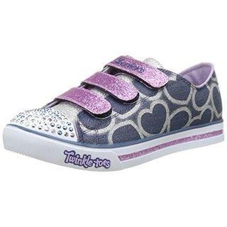 Sketchers Heartsy Glam sneakers in Denim/Lavender