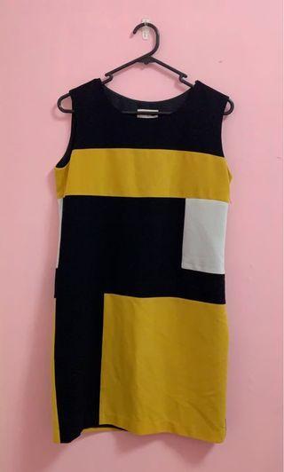Yellow Colourblock Dress