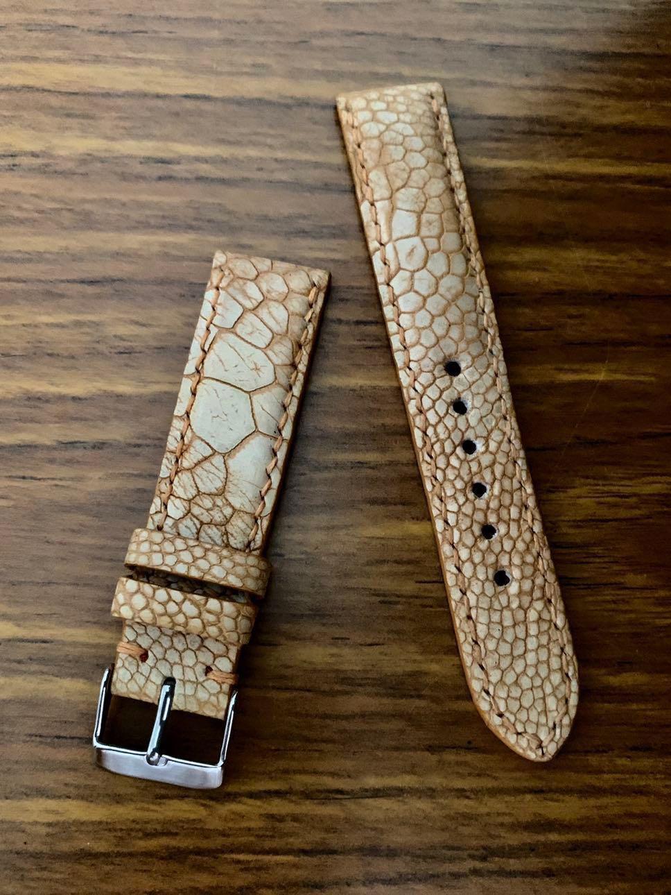 20mm/18mm Authentic Unique Quinoa Beige Brown Ostrich Leg Watch Strap (special leg grains) #MRTHougang #MRTSerangoon #MRTSengkang #MRTPunggol #MRTRaffles #MRTBedok #MRTTampines #MRTCCK #MRTJurongEast #MRTYishun